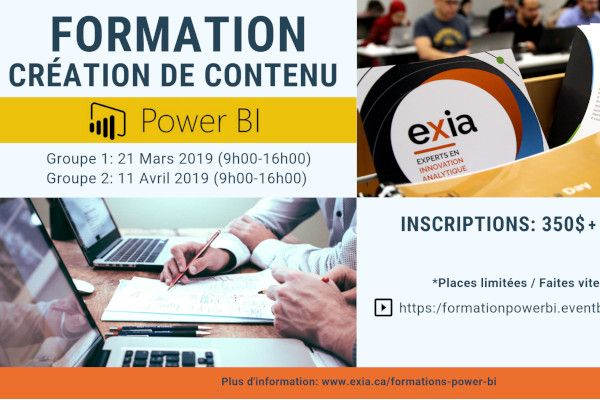 Formation Power BI Montreal 2019